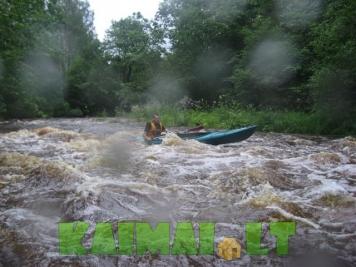 Ekstremalus plaukimas baidarėmis Minijos ir Žvelsos upe