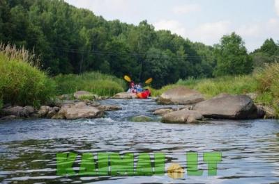 Plaukimas baidarėmis Minijos upe