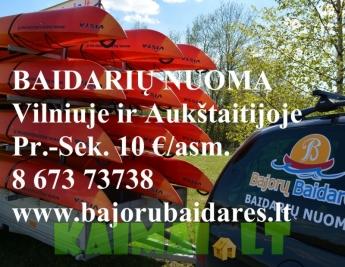 Baidarių nuoma Aukštaitijoje ir Vilniuje