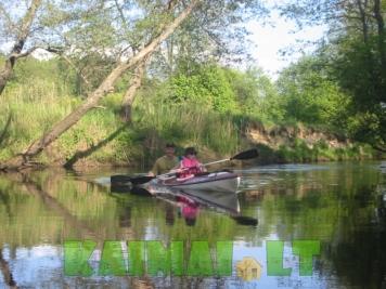 Pramogos baidarėmis Ūlos upėje